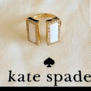 Kate Spade Rectangle Stone Golden Ring 7